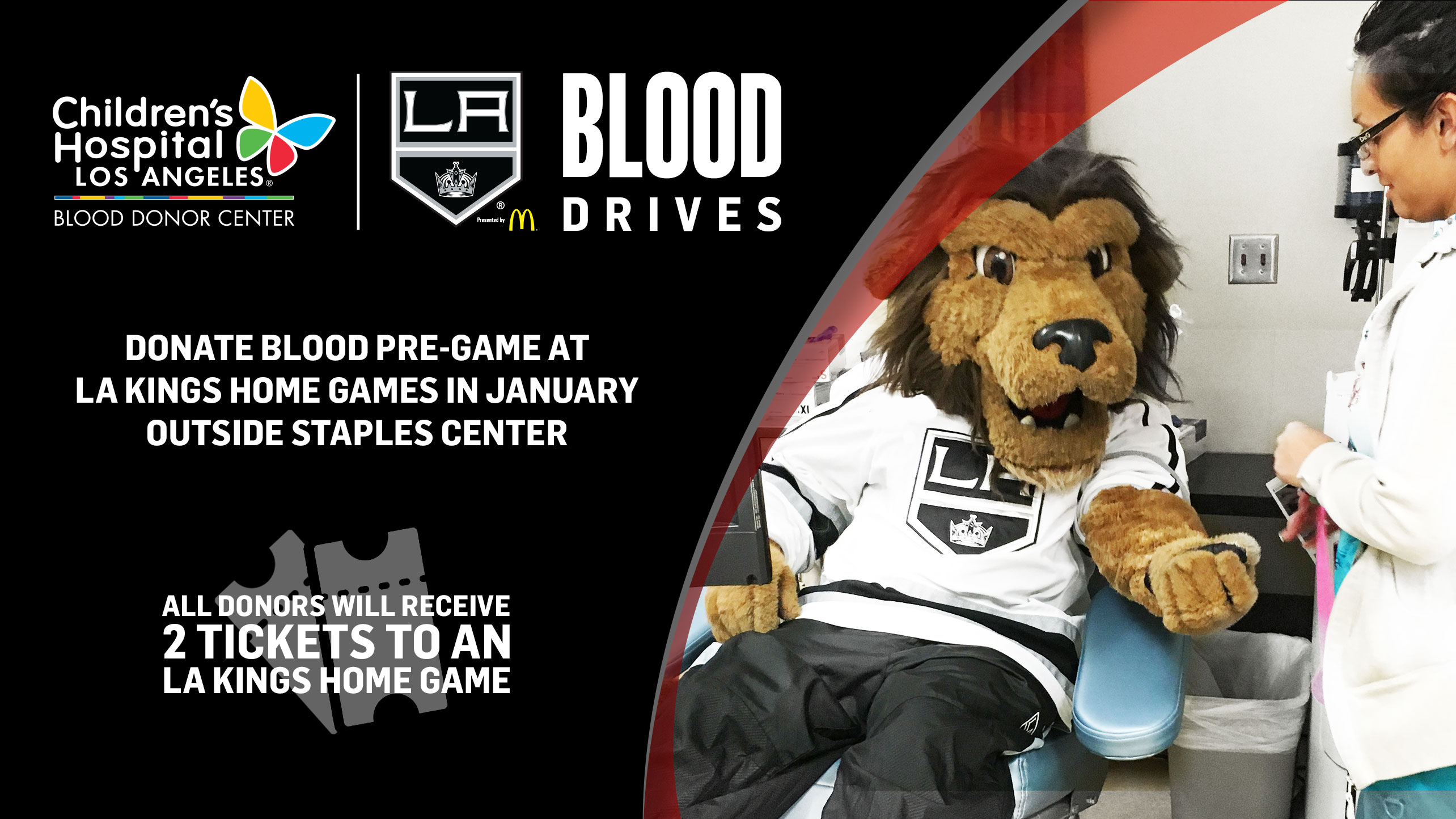 The LA Kings Will Host Blood Drives Prior to the Next Four Home Games